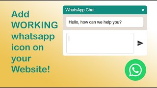 How to add floating whatsapp icon on html website|| floating-wpp.js