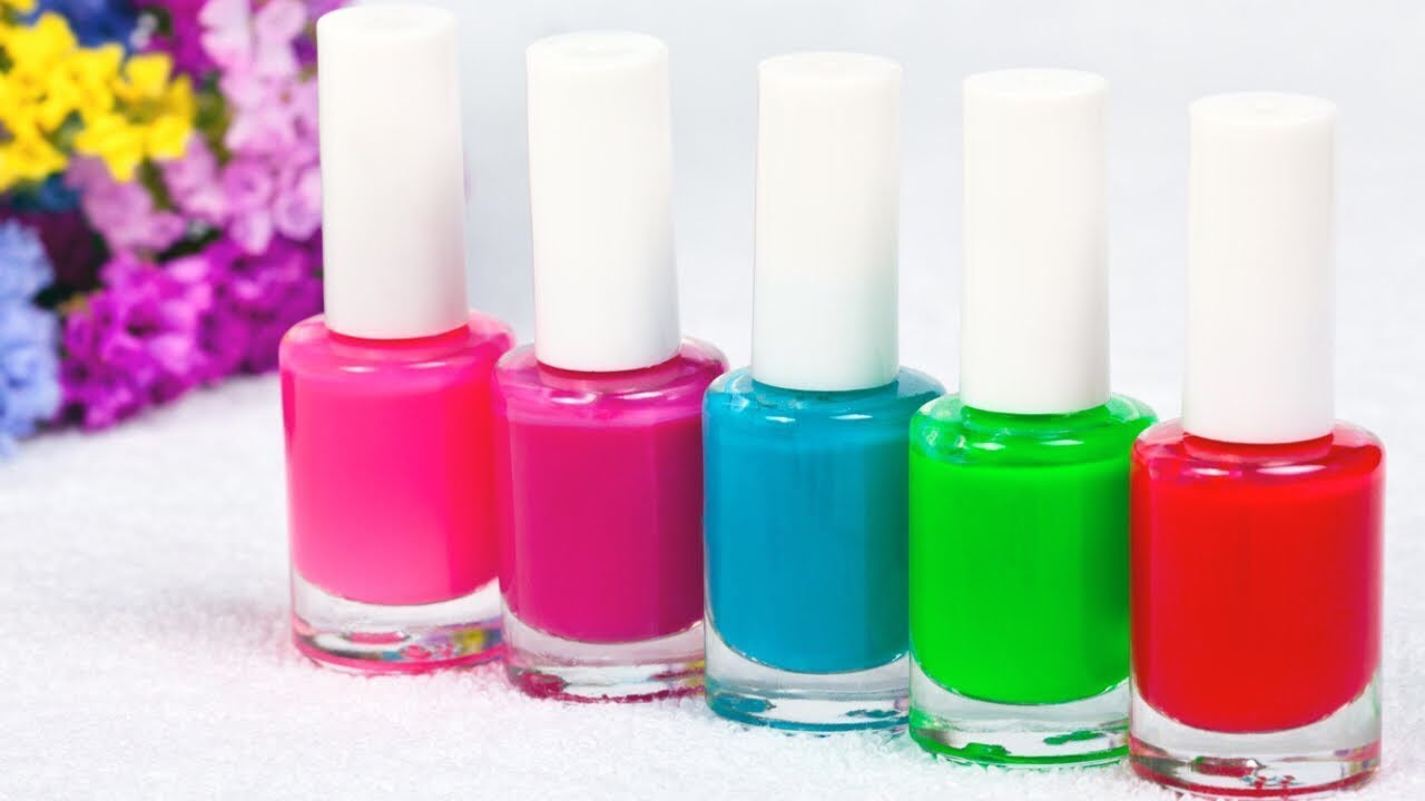 5 IDEAS TO MAKE CRAFTS WITH NAIL POLISH BOTTLES - YouTube