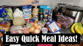 QUICK AND EASY MEALS!    $70.80 GROCERY HAUL WITH PRICES