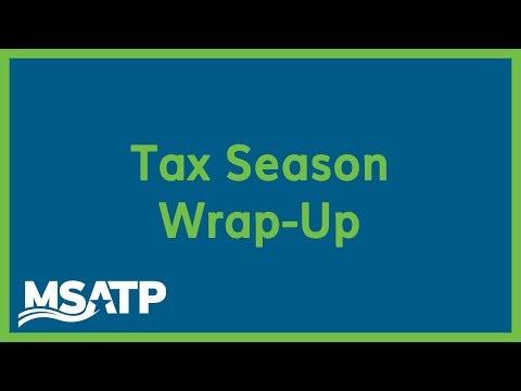 Tax Season Wrap-Up