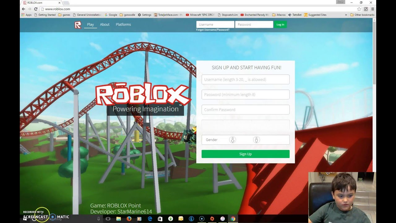How To Sign Up To Roblox Youtube