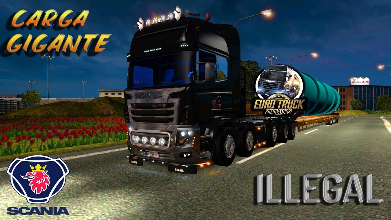 V8 illegal reworked truck v5 0 simulator games mods download - Ets2 Mod Scania Illegal V8 Hasta 3000cv 10x6 Carga Gigante