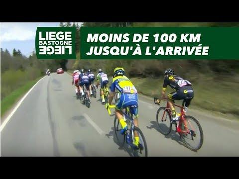 Moins de 100 km jusqu'à l'arrivée - Liège-Bastogne-Liège 2018