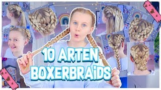 10 ARTEN VON BOXERBRAIDS 👧🏼 Back to school Hairstyles | MaVie Noelle