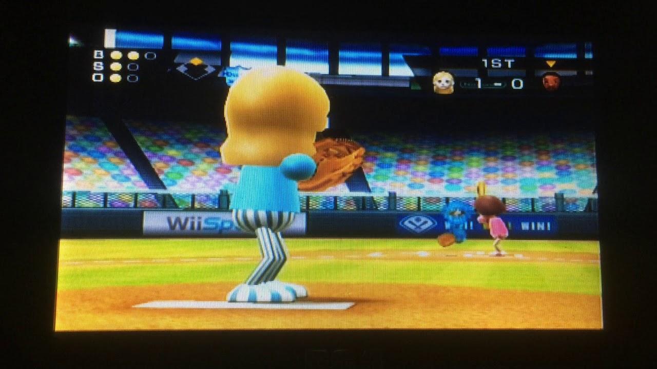 Wii Sports Baseball Vs James Skill Level 506 Highest