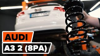 Skifte Opphengingsfjær AUDI A3: verkstedhåndbok