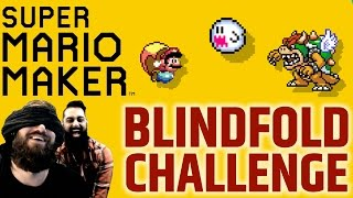 Super Mario Maker - Funny Blindfold Challenge