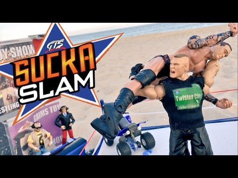 GTS WRESTLING: SUCKASLAM! WWE Summerslam Mattel Figures Animation PPV Event!
