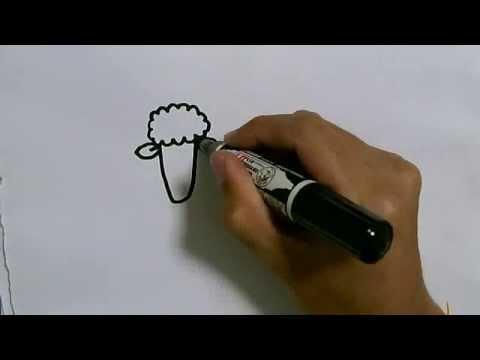 สอนวาดการ์ตูนน่ารักง่ายๆ วาดรูปแกะ How To Draw Sheep Cartoon