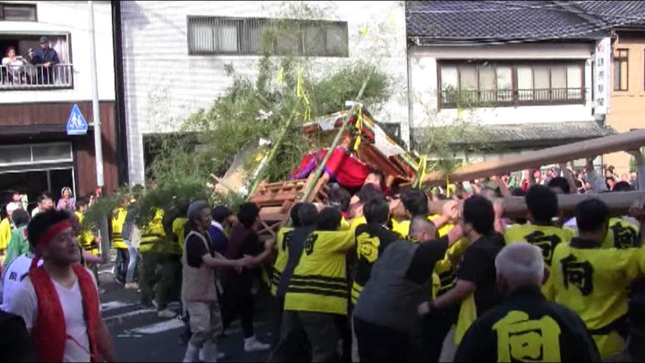 2017 間人 けんか屋台 祭り 谷区...