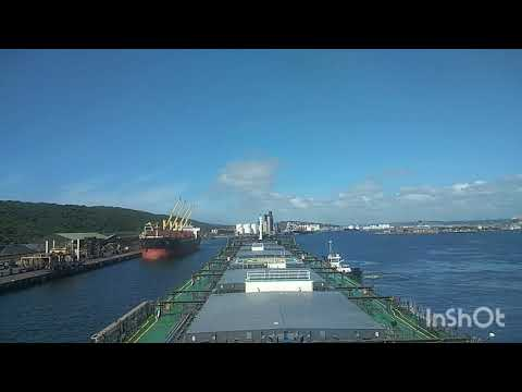 The ship is entering the Durban port, South Africa. Until Mo