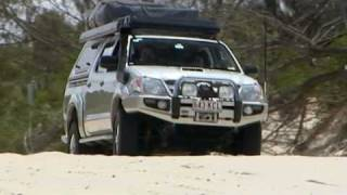 Beach driving with ARB's Roger Vickery at Noosa.