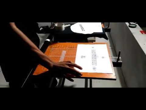 SETING FILEM SABLON 2 WARNA DI MEJA THAILAND #mmzscreenprinting