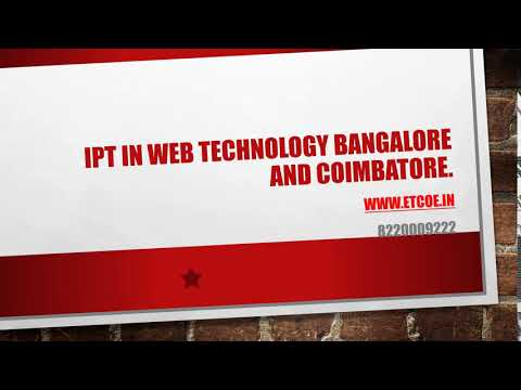 IPT in Web Technology Bangalore AND COIMBATORE-etcoe.in
