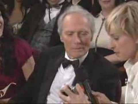 Oscar® Host Ellen DeGeneres With Clint Eastwood