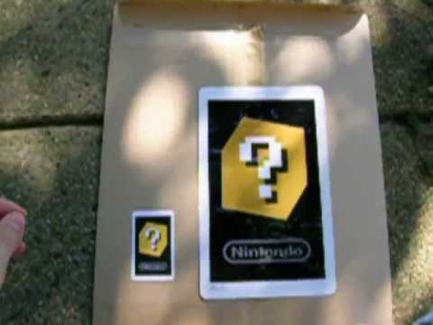 Club Nintendo Giant Ar Card Unboxing Youtube