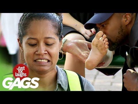 Cops Smell Stranger's Feet