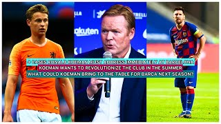 Ronald koeman has finally been presented the public. it was such an amazing thing to witness. after so long, barca have signed a coach with right...