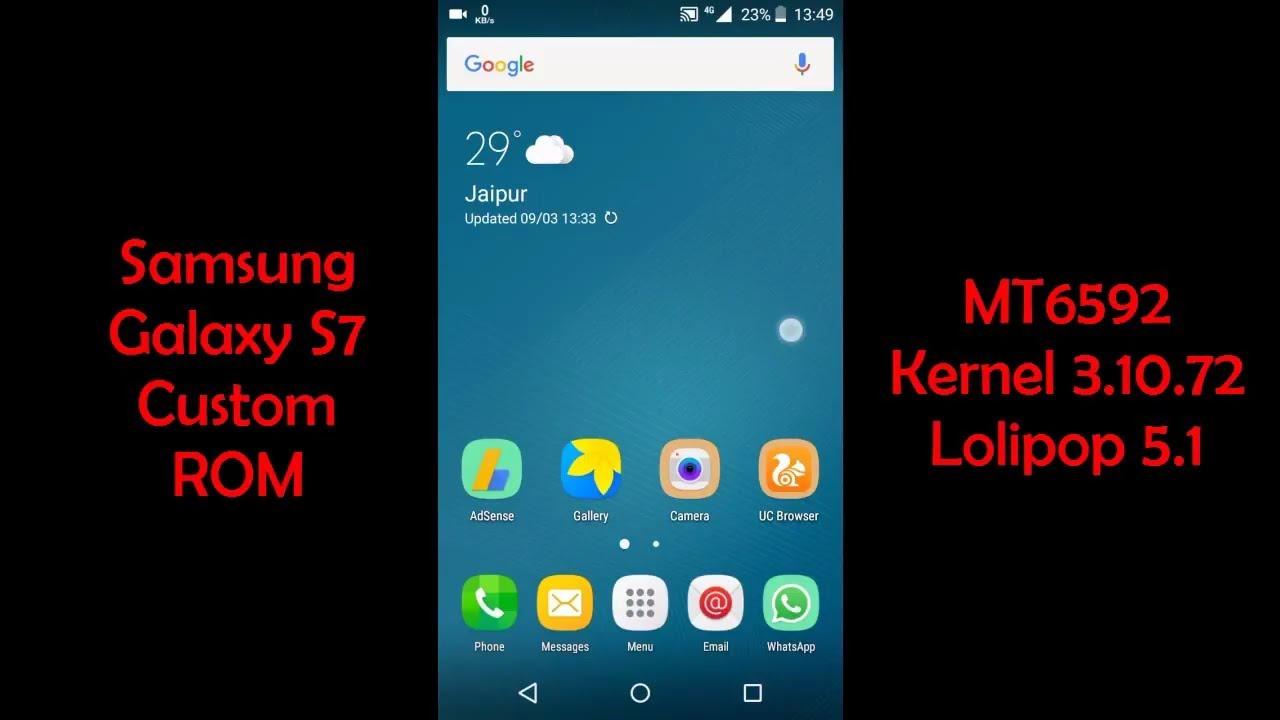 [MT6592] Samsung Galaxy S7 Custom ROM Kernel 3 10 72 Lollipop 5 1 (Micromax  E313)