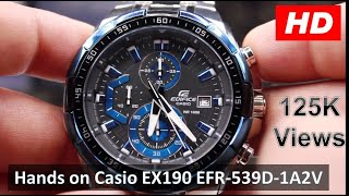 Casio EX190 EFR-539D-1A2V | STANDARD CHRONOGRAPH | EDIFICE Series Hands On Review