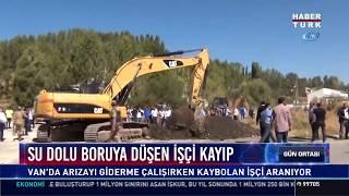 Su dolu boruya düşen işçi kayıp