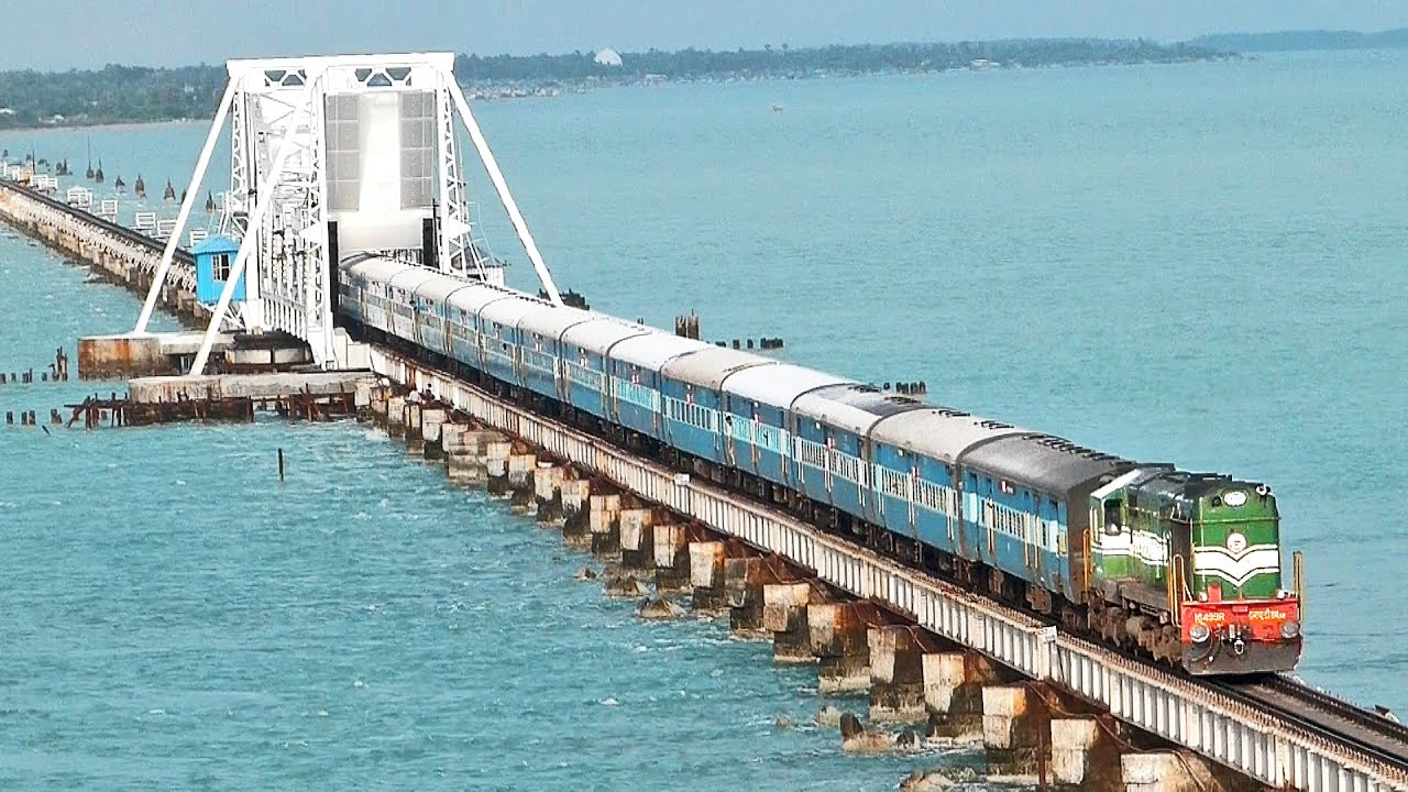 India S Most Dangerous Rail Bridge Pamban Rameswaram