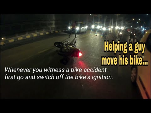 Helped a guy move his fallen bike | Daily pune vlogs | Katty'sRide | Pulsar200NS