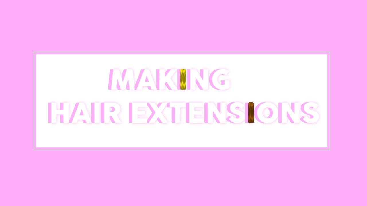 Roblox How To Make Hair Extensions Youtube