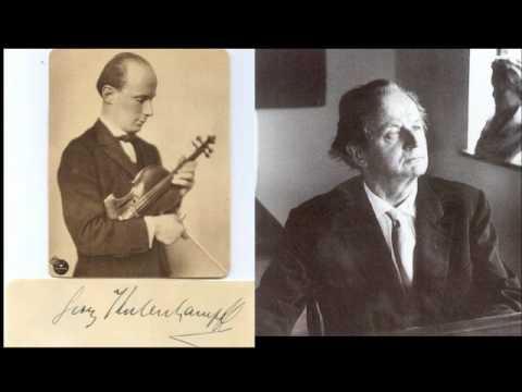Georg Kulenkampff & Wilhelm Kempff play Beethoven 'Kreutzer' Sonata (1rst mvt)