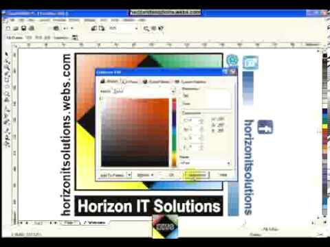 corel draw color color picker tool paint bucket tool