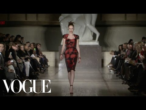 Zac Posen Ready to Wear Fall 2012 Vogue Fashion Week Runway Show