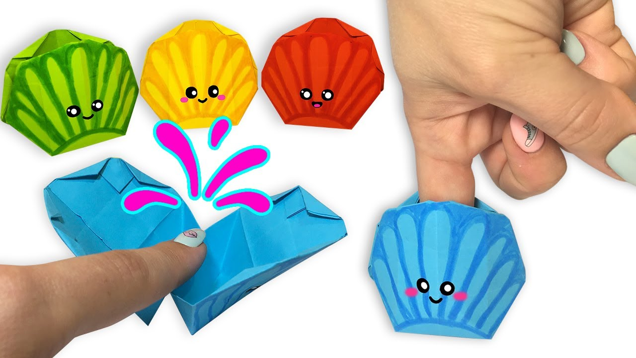 Оригами ИГРУШКА - РАКУШКА - ЛОВУШКА ! Поделки из бумаги I Origami TOY - SHELL - TRAP! Paper crafts