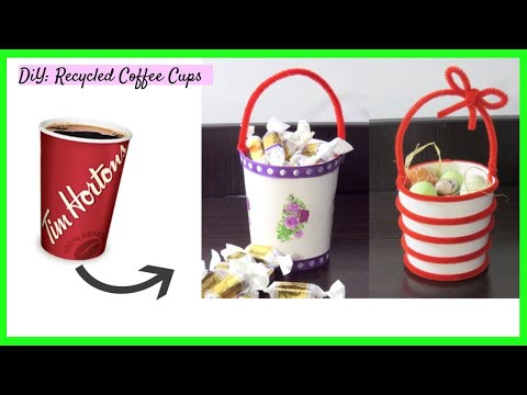 DIY: Recycled coffee cups | Recycled ideas | DIY craft ideas best out of waste | Best out waste