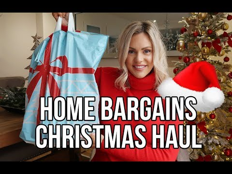 HOME BARGAINS CHRISTMAS HAUL 2018