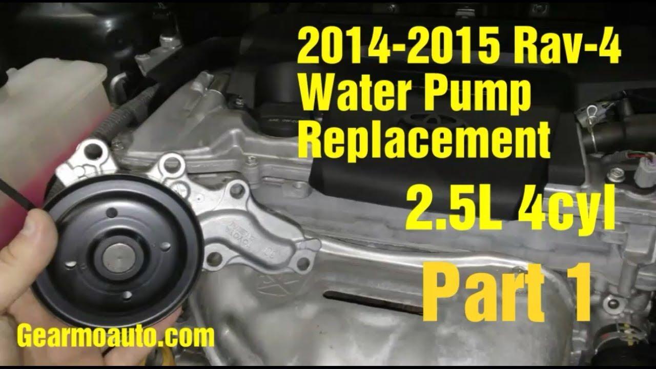 2014 2015 Rav 4 Water Pump Replacement Part 1 Youtube