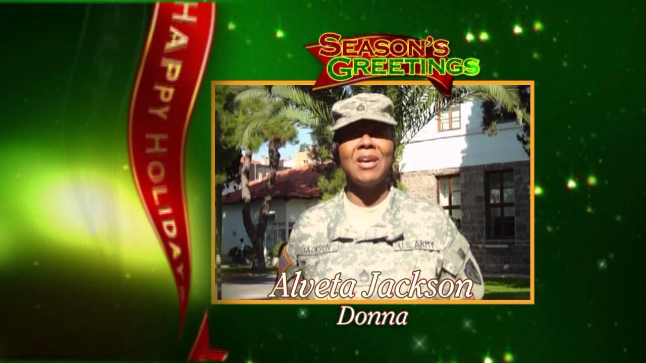 Military Holiday Greeting Alveta Jackson Donna Texas Youtube