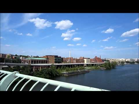 Walking across Key Bridge to Georgetown - Washington DC, USA