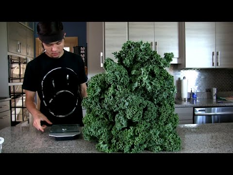 Massive Kale Salad Challenge (Morgan's back)