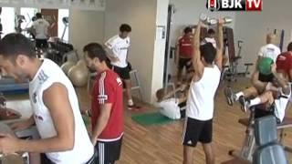 Futbolcularımız Fitness Çalışması Yaptı - BJK TV
