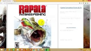 How To Download & Instal game RAPALA PRO FISHING PC NO DVD !!