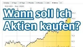 Wann soll ich eine Aktie kaufen? Wenn sie fällt oder steigt? AktienMitKopf.de