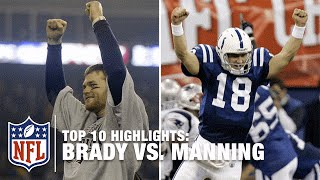 Top 10 Tom Brady vs. Peyton Manning Rivalry Games | NFL Network