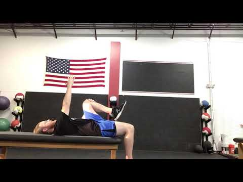 Supine Hip Extension With Reach