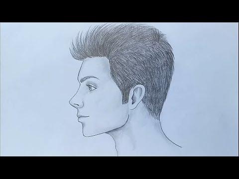 How to draw a man sitting sideways