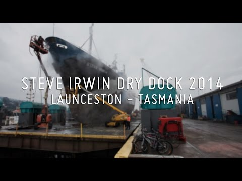 Steve Irwin Dry Dock 2014 at Launceston, Tasmania