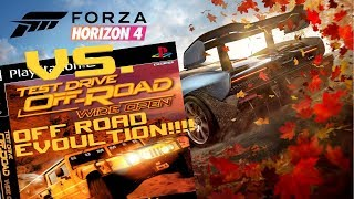 Test Drive Off Road Wide Open Compared to Forza Horizon 4 (Offroad Evolution)