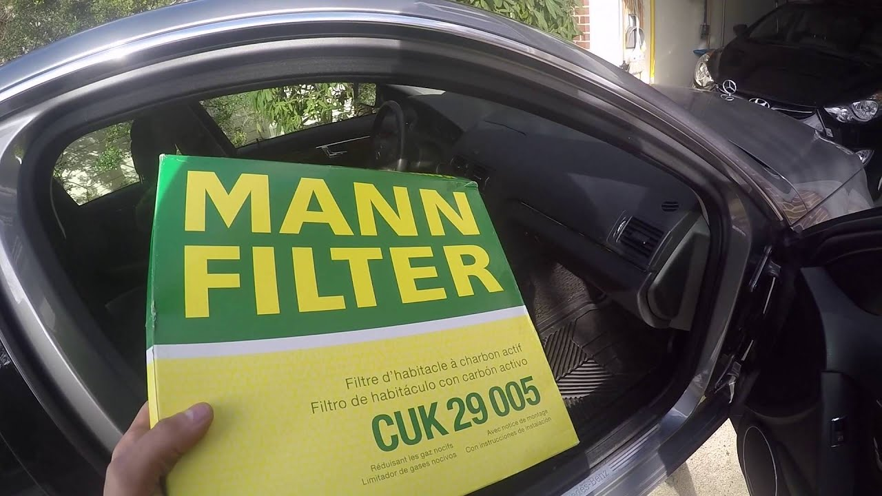 Cabin Air Filter Replacement On Mercedes C Class YouTube