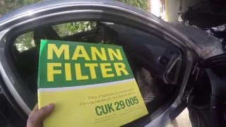 cabin air filter replacement on mercedes c class