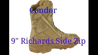 "Condor 9"" Richards boot review --- Military grade for the civilian"