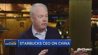 Starbucks opens a new store in China every 15 hours, says CEO Kevin Johnson
